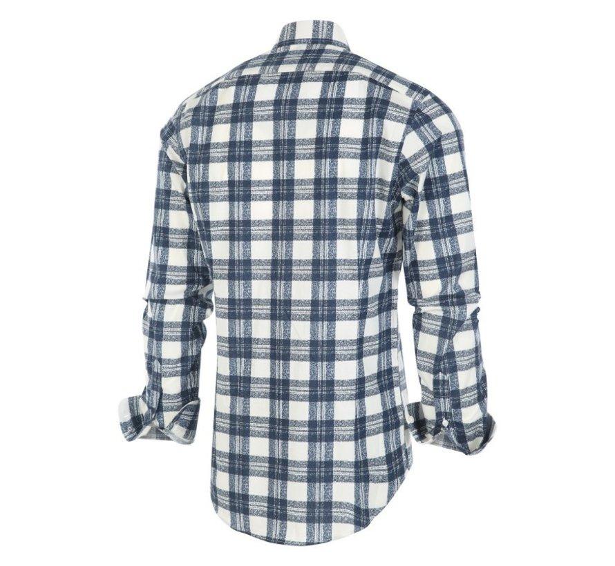 Overhemd Ruit Blauw/Wit (1248.92)