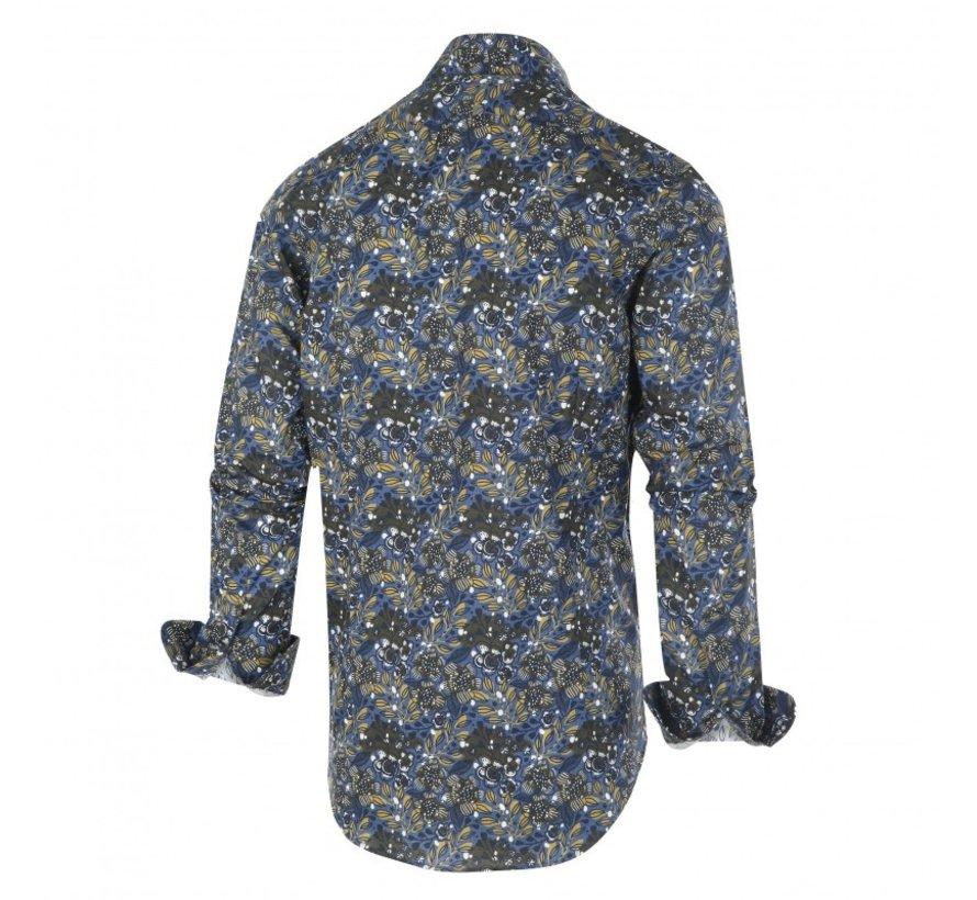 Overhemd Bladeren Indigo (1255.92)