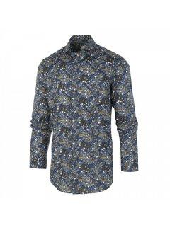 Blue Industry Overhemd Bladeren Indigo (1255.92)