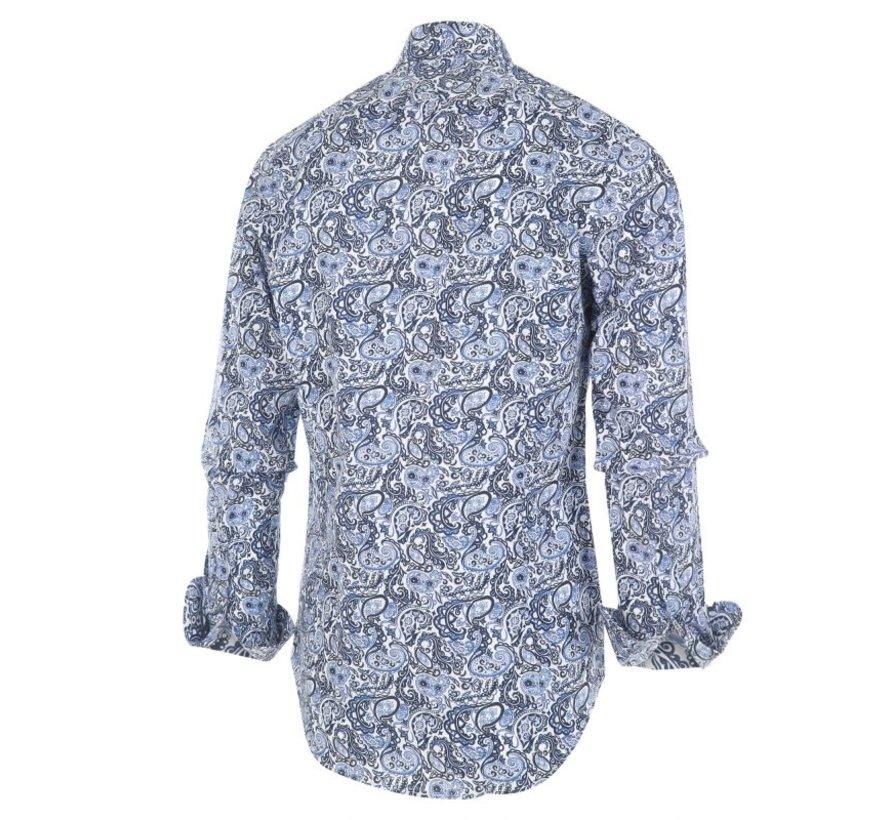 Overhemd Print Blauw (1260.92)