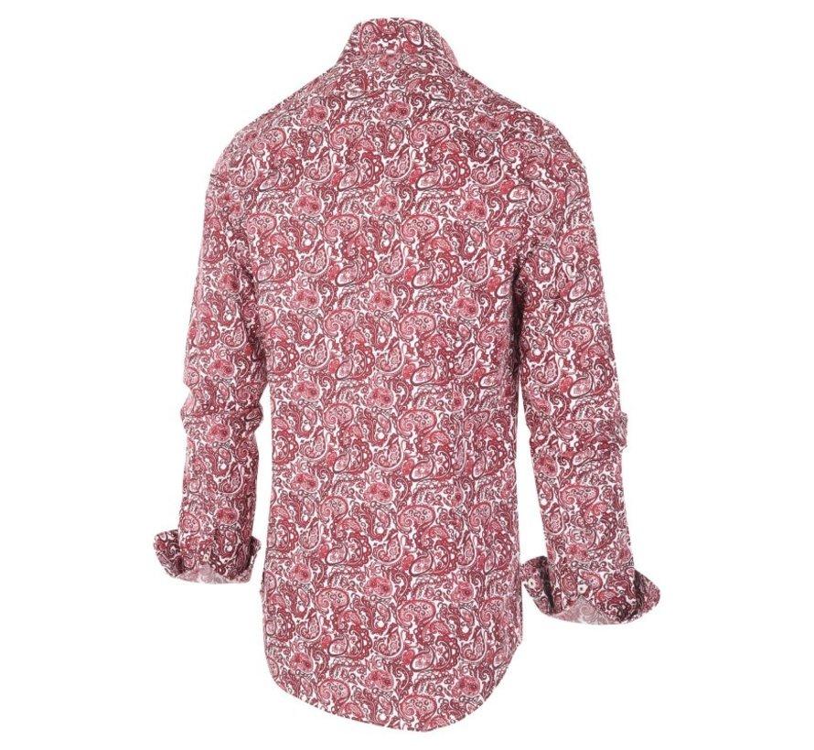 Overhemd Print Rood (1273.92)