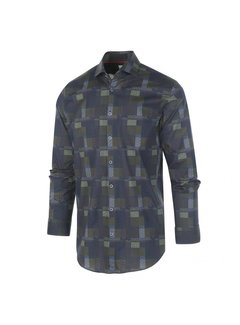 Blue Industry Overhemd Print Navy/Groen (1284.92)