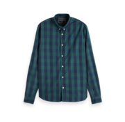 Scotch & Soda Overhemd Regular Fit Ruit Navy/Groen (152152 - 0221)