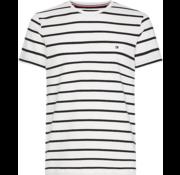 Tommy Hilfiger T-shirt Gestreep Zwart/Wit (MW0MW09813 - 905)