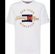 Tommy Hilfiger T-shirt Geborduurd Logo Wit (MW0MW09836 - 100)