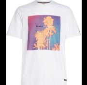 Tommy Hilfiger T-shirt Opdruk Palmbomen Wit (MW0MW10250 - 100)