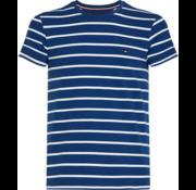 Tommy Hilfiger T-shirt Gestreept Blauw/Wit (MW0MW09813 - 903)