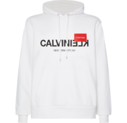 Calvin Klein Hooded Sweater Logo Wit (K10K104702 - YBS)