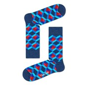 Happy Socks 1pack Sokken Optic Square Blauw (OSQ01-6300)