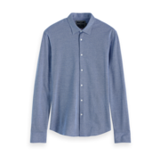Scotch & Soda Overhemd Slim Fit Blauw (152199 - 0217)