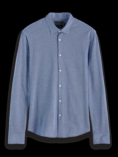 Scotch & Soda Overhemd Slim Fit Blauw 2XL