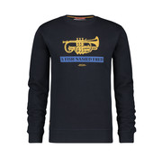 A Fish named Fred Sweater Trumpet Navy (92.01.514)