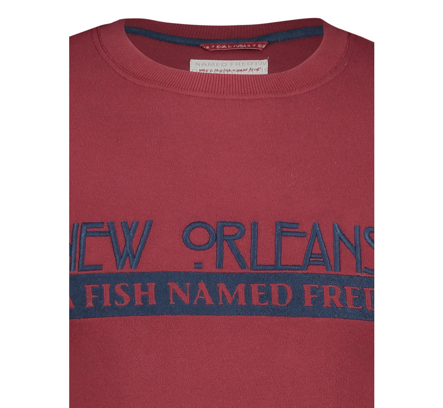 Sweater New Orleans Rood (92.01.512)