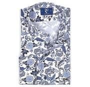 R2 Amsterdam Overhemd Print Blauw (106.WSP.017 - 073)