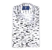 R2 Amsterdam Overhemd Print Wit/Zwart (106.WSP.081 - 020)