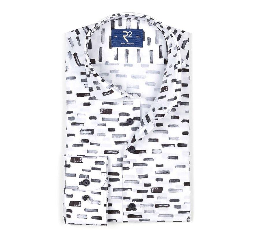 Overhemd Print Wit/Zwart (106.WSP.081 - 020)