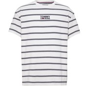 Tommy Hilfiger T-shirt strepen Wit (DM0DM06069 - 100)