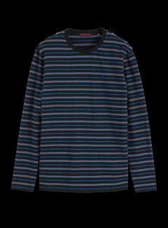Scotch & Soda T-shirt Lange Mouwen Streep Navy (152255 - 0219)