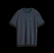 Scotch & Soda T-shirt Roze/Paarse Streep Groen (152274 - 0220)
