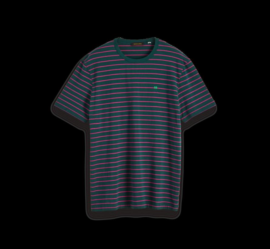 T-shirt Roze/Paarse Streep Groen (152274 - 0220)