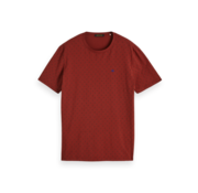 Scotch & Soda T-shirt Print Bordeaux (152274 - 0222)