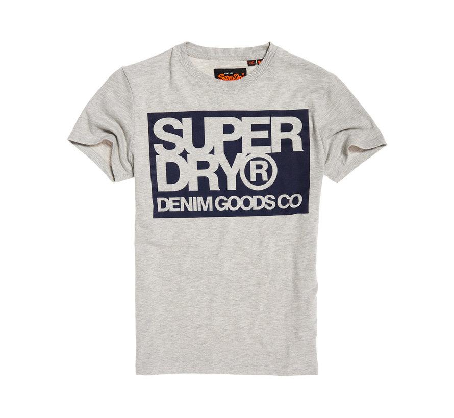 T-shirt Logo Licht Grijs (M1000003A - 07Q)