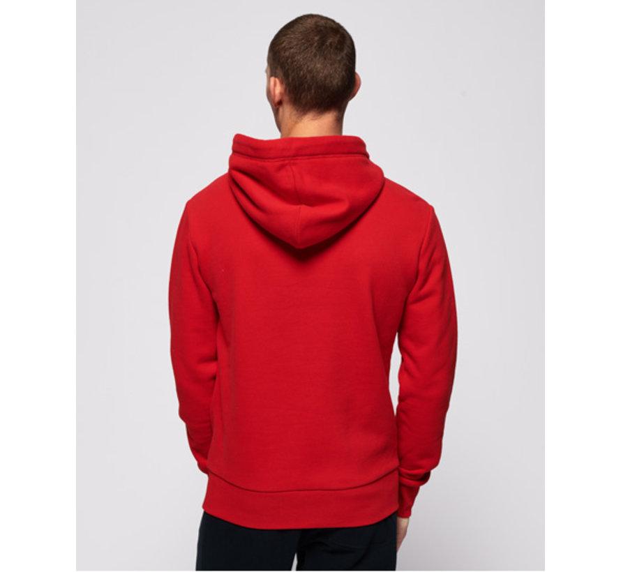 Hooded Sweater Logo Rood (M2000074A - WA7)