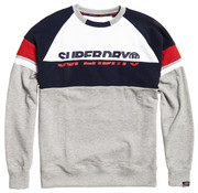 Superdry Sweater Grijs/Navy/Rood (M2000030B - ZJ3)