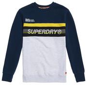 Superdry Sweater Logo Navy/Grijs/Geel (M2000075B - K6E)