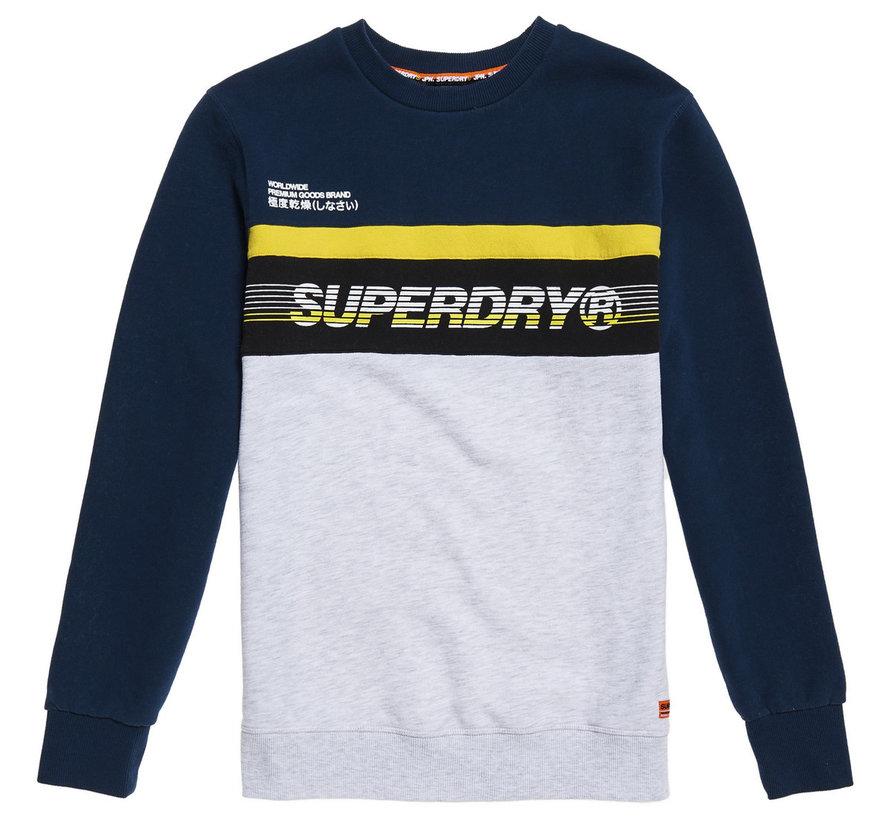 Sweater Logo Navy/Grijs/Geel (M2000075B - K6E)