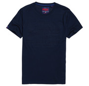 Superdry T-shirt Embossed Logo Navy (M1000033B - R6K)