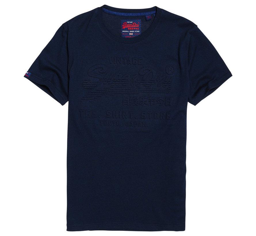 T-shirt Embossed Logo Navy (M1000033B - R6K)