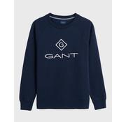 Gant Sweater Logo Navy (2046062 - 433)