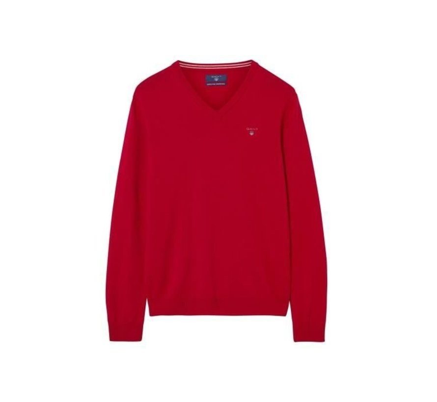 Pullover V-hals Wol Rood (86212 - 620)