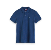 Scotch & Soda Polo Pique Print Navy (152341 - 0217)