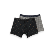 Scotch & Soda Boxershorts 2-pack Print Zwart/Wit (151344 - 0219)