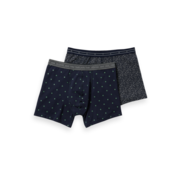 Scotch & Soda Boxershorts 2-pack Print Navy (151344 - 0220)