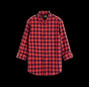 Scotch & Soda Overhemd Geruit Rood/Blauw (155851 - 0217)