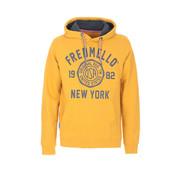 Fred Mello Hooded Sweater Logo Gold Oker Geel (FM19W04FC - 198)