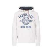 Fred Mello Hooded Sweater Logo Ivory Grijs (FM19W04FC - 239)