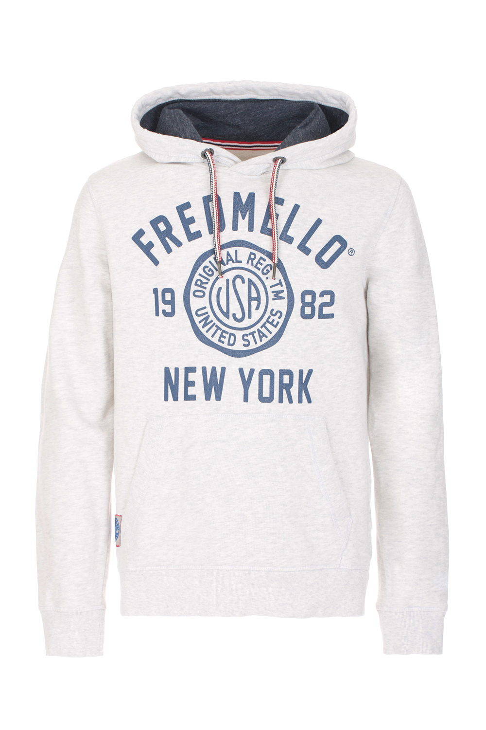 Fred Mello Hooded Sweater Logo Ivory