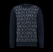 Haze & Finn Trui Letters Navy - Grey Melange (MC12-0201)