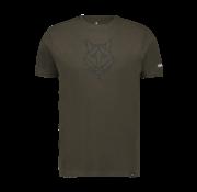 Haze & Finn T-shirt Husky Embro Army Green - Dark Navy (MU12-0006)