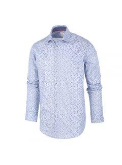 Blue Industry Overhemd Print Stipjes Lichtblauw (1293.92)