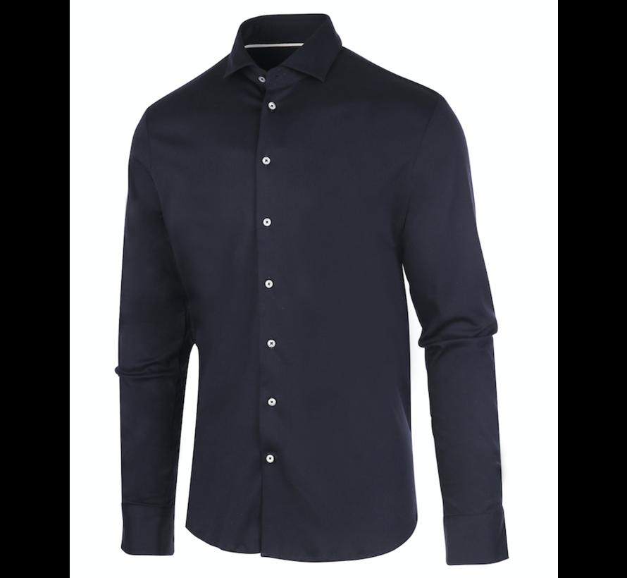 Jersey Overhemd Navy (James - Navy)