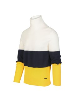 Blue Industry Coltrui 3-color Wit/Navy/Geel (KBIW19 - M21 - Offwhite)