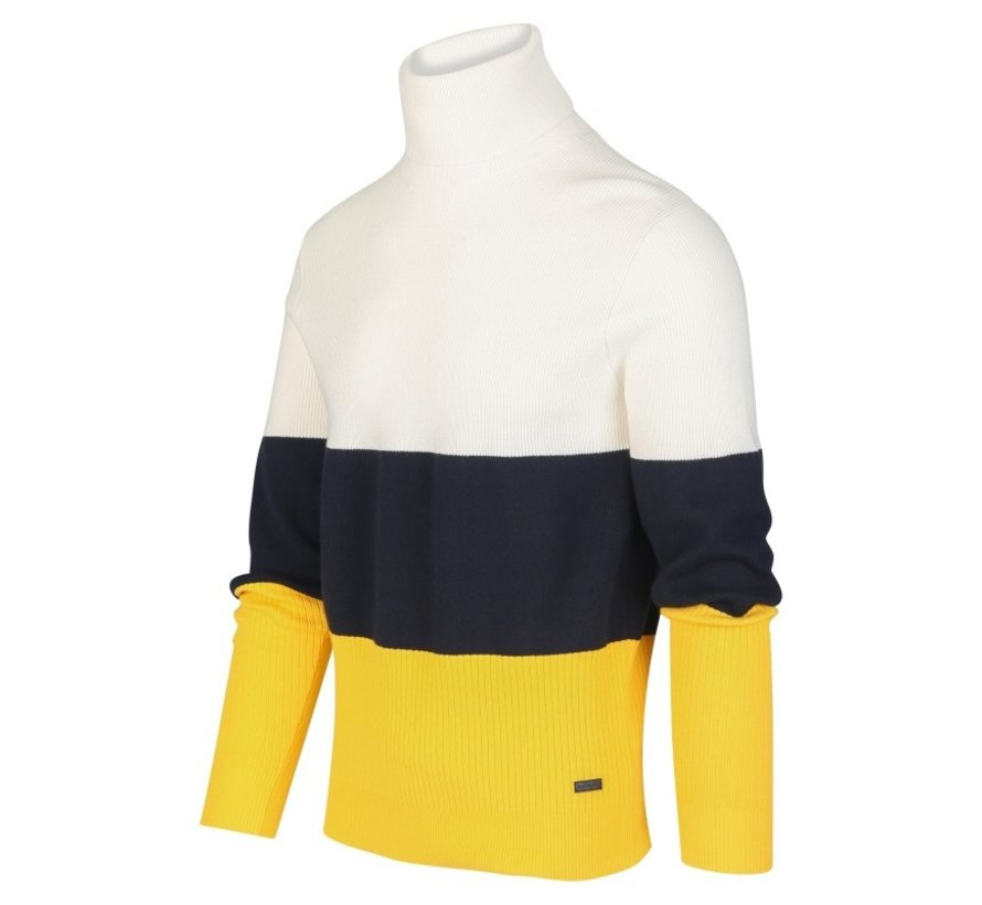 Coltrui 3-color Wit/Navy/Geel (KBIW19 - M21 - Offwhite)