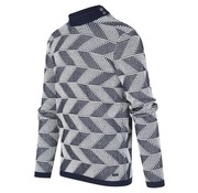 Blue Industry Trui Grafische Print Navy/Wit (KBIW19 - M25 - Offwhite)