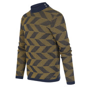 Blue Industry Trui Grafische Print Army (KBIW19 - M25 - Moss)