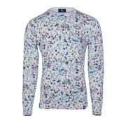 R2 Amsterdam Pullover Limited Edition Bloemen Grijs (106.KNIT.07 - 025)